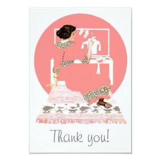 Vintage Baby Dreams Thank You Card 9 Cm X 13 Cm Invitation Card