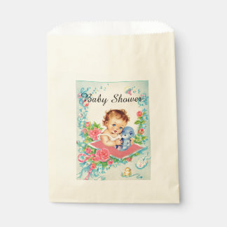 Vintage Baby Girl Baby Shower Favor Bags