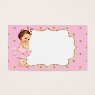 Vintage Baby Girl Princess Business Card