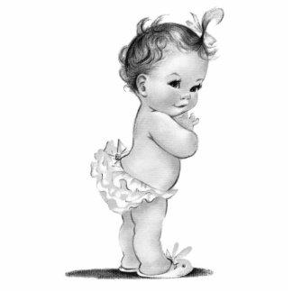 Vintage Baby Girl Shower Standing Photo Sculpture