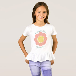 Vintage Baby Pink Flower Personalized T-Shirt