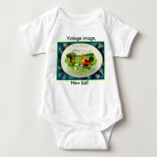 Vintage baby, ready for Easter! Baby Bodysuit