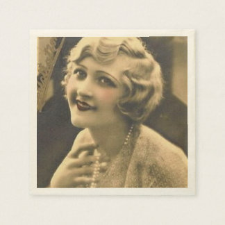 vintage bachelorette Party Gatsby bridal shower Disposable Serviettes