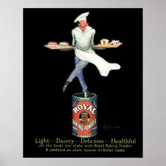 Vintage Baker Advertising Art Poster