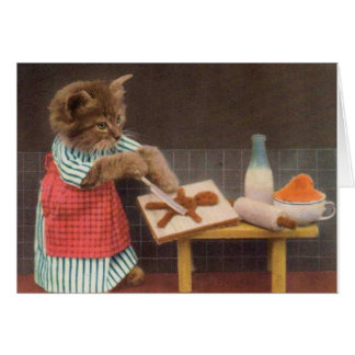 Vintage Baker Cat, Card