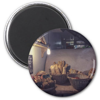 Vintage bakery and pastry shop interior design 6 cm round magnet