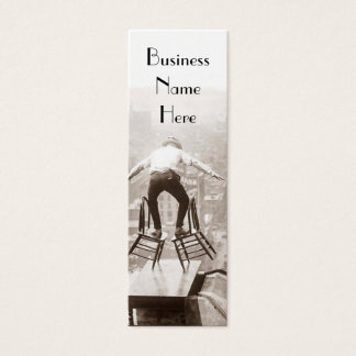 Vintage Balancing Act Bookmark Business Cards