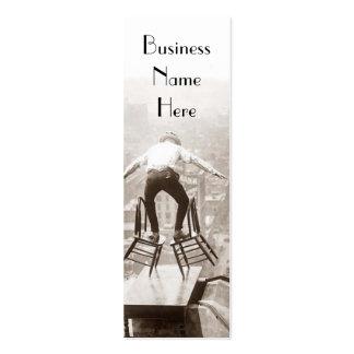 Vintage Balancing Act Bookmark Business Cards