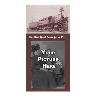 Vintage Baldwin Locomotive Photocard Photo Greeting Card