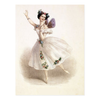 Vintage Ballerina with fairy wings Postcard
