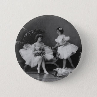 Vintage Ballerinas After the Encore 6 Cm Round Badge