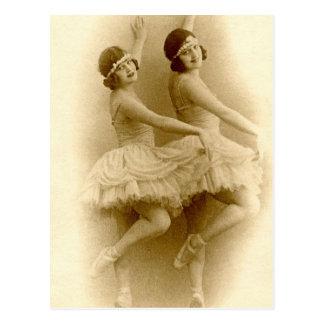 VIntage Ballerinas Postcard