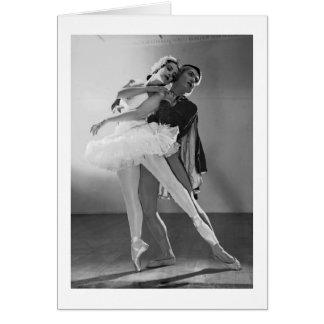 Vintage Ballet - Swan Lake, Card