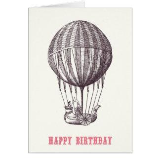 Vintage Balloon Happy Birthday Card
