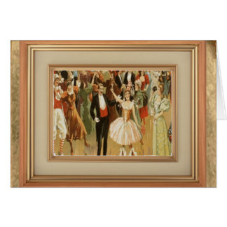 Vintage Ballroom Dance Greeting Notecard