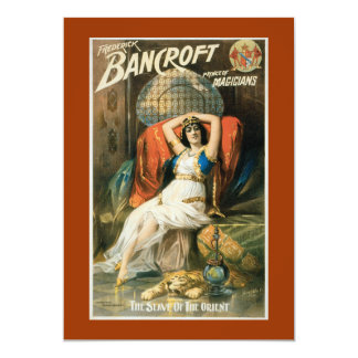 "Vintage Bancroft Prince of Magicians 5"" X 7"" Invitation Card"