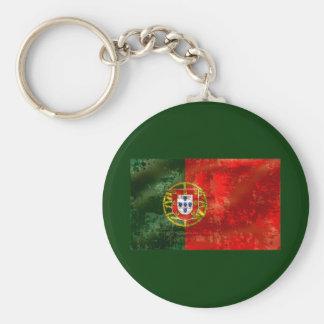 Vintage Bandeira Portuguesa por Fás de Portugal Basic Round Button Key Ring