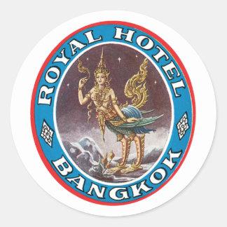 Vintage Bangkok Thailand Classic Round Sticker