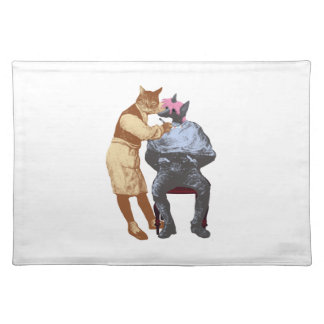 Vintage Barber Cat and Dog Placemat