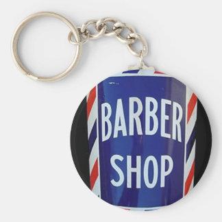 Vintage barbershop sign key ring