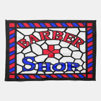 Vintage Barbershop Sign Tea Towel