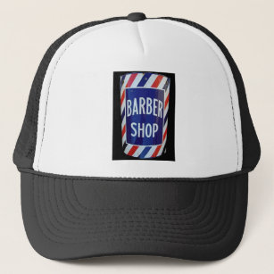 Vintage barbershop sign trucker hat