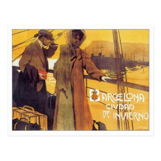 Vintage Barcelona Ciudad Postcard
