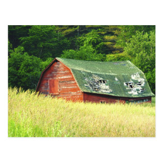 Vintage Barn in the Adirondacks,  N. Y. Postcard