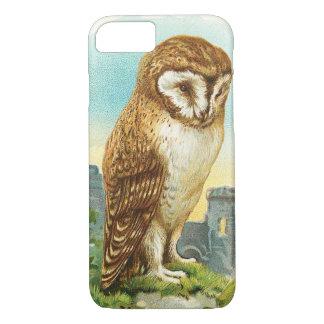 Vintage Barn Owl iPhone 7 Case