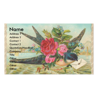 Vintage Barn Swallow Delivers An Envelope Business Cards