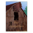 Vintage Barn Sympathy Card or any occasion