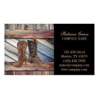 vintage barn wood cowboy boots western fashion business cards