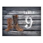 vintage barnwood CowboyCountry wedding table Postcard