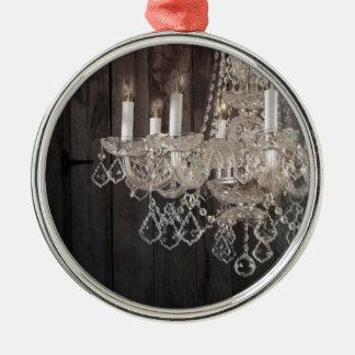 vintage barnwood purple chandelier paris fashion Silver-Colored round decoration