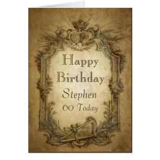 Vintage Baroque Birthday Card