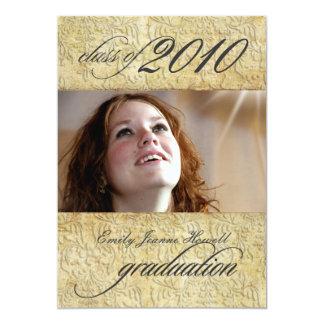 Vintage Baroque Damask Graduation 13 Cm X 18 Cm Invitation Card