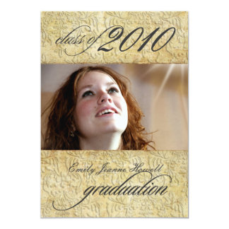 Vintage Baroque Damask Graduation Card