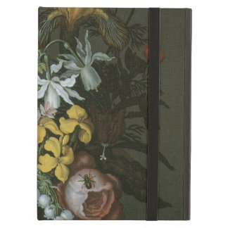 Vintage Baroque, Floral Still Life Flowers in Vase Cover For iPad Air