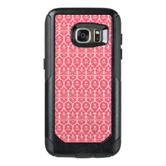 Vintage Baroque Pink Floral Wallpaper OtterBox Samsung Galaxy S7 Case