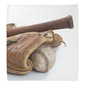 Vintage Baseball and Bat Bandana
