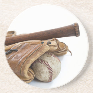 Vintage Baseball and Bat Coaster