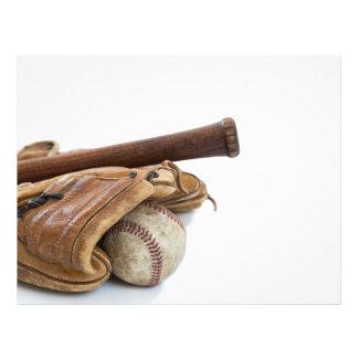 Vintage Baseball and Bat Flyer