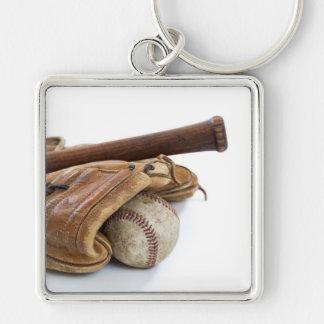 Vintage Baseball and Bat Key Ring
