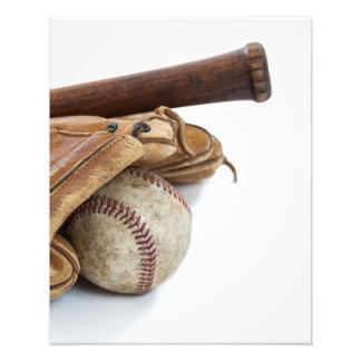 Vintage Baseball and Bat Photo Print