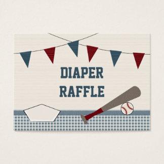 Vintage BASEBALL BABY SHOWER Diaper Raffle Cards