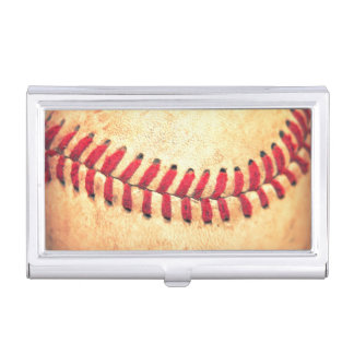 Vintage baseball ball business card holder