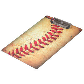 Vintage baseball ball clipboard