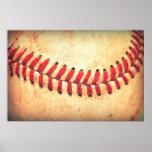 Vintage baseball ball posters