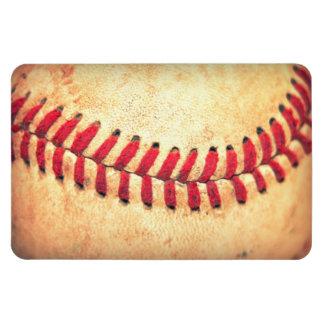 Vintage baseball ball rectangular magnet