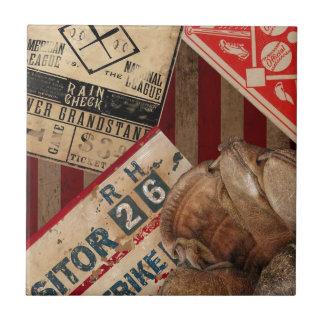 Vintage Baseball Ceramic Tile